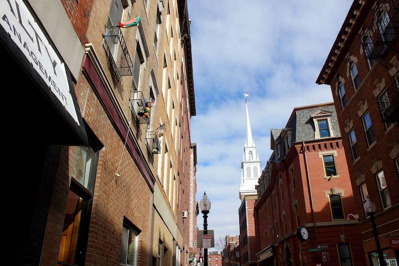 Old North Church in North End Boston
