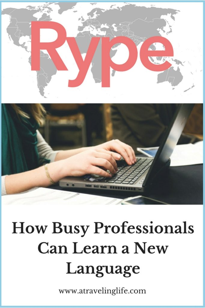 My review of Rype: How Rype is the perfect way for busy professionals to learn a new language