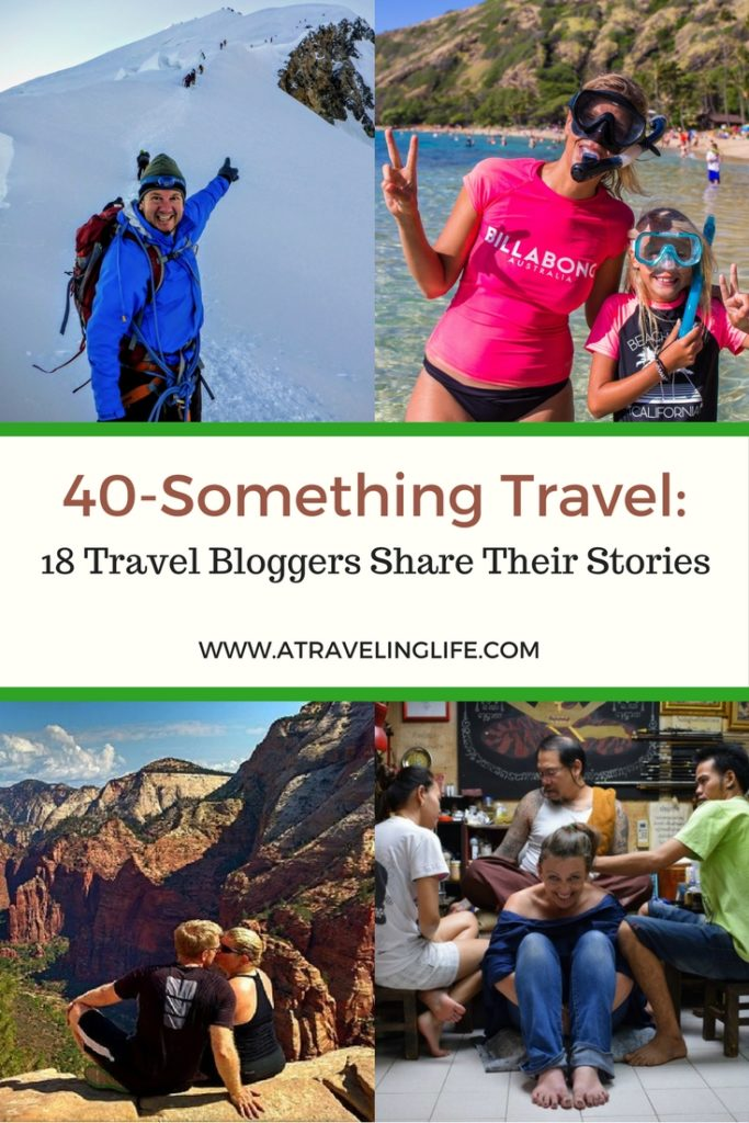This post celebrates 40-Something Travel by sharing the stories of 18 travel bloggers in their forties.