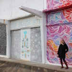 Brianne Miers in front of street art in Asbury Park, New Jersey