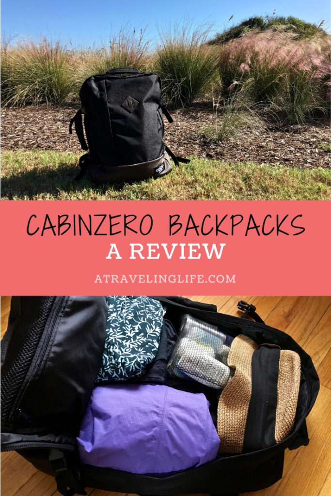 Here is my CabinZero backpack review. I've used the Travel Vintage 44L bag for a variety of domestic and international trips, and it was perfect for every experience. Click to read the full review. | Backpack for travel | 44L backpack | Cabin Zero bag | Travel Gear Review | Carry on backpack | #CabinZero #Backpack #Review