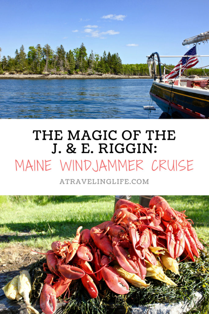 Here's what it's like to take a Maine windjammer cruise, and sail out of Rockland through Penobscot Bay on the J. & E. Riggin. | Things to Do in Maine | #visitmaine #mainething