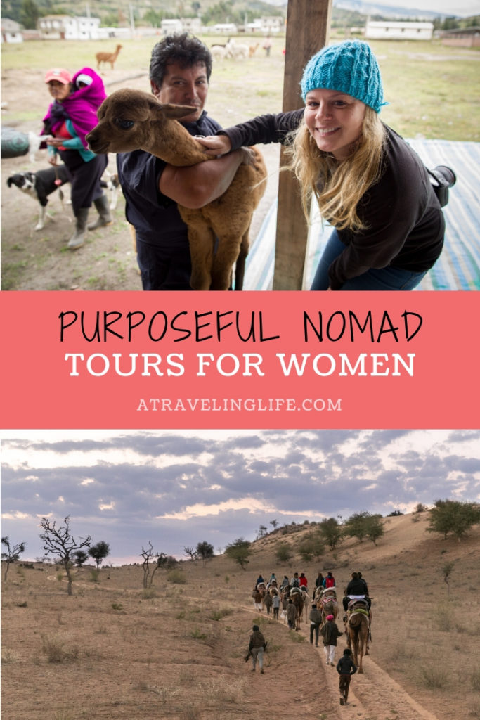 Caitlin Murray, the co-founder of Purposeful Nomad, empowers women around the globe through specialized small-group, sustainable travel. In this interview, learn about how she started her sustainable travel company. | Solo female traveler | Women traveling alone | Woman-owned business | Woman empowerment | #sustainabletravel #femaletraveler