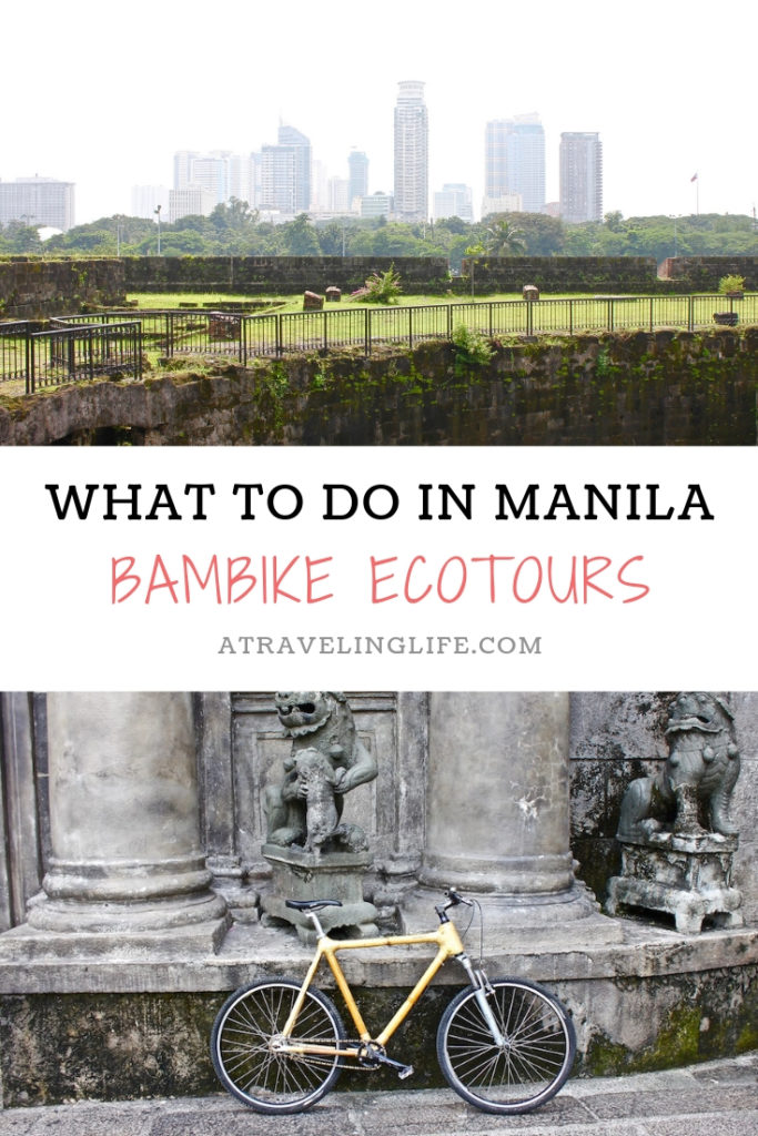 If you're in the Philippines and looking for what to do in Manila, then head to Bambike Ecotours in Intramuros and learn about the city's history while riding a hand-crafted bamboo bicycle. | The Best Things to Do in Manila | The Best Ecotours in the Philippines #itsmorefuninthephilippines #adventuretravel #budgettravel #Philippines